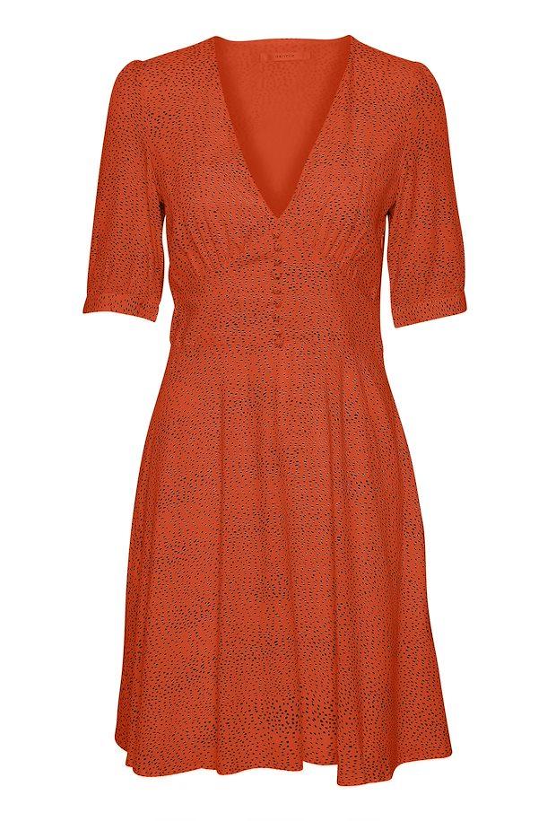 0798ad1c Pureed pumpkin w black dot CathrinGZ kjole – Køb Pureed pumpkin w black dot  CathrinGZ kjole fra ...