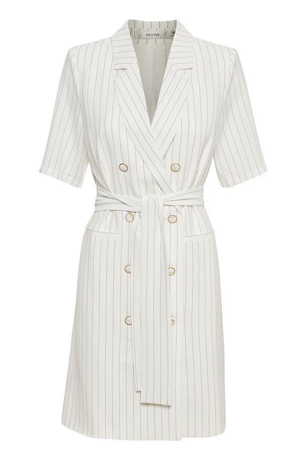 a5a28319 White w. black stripe AgaGZ blazer kjole – Køb White w. black stripe AgaGZ  blazer kjole fra ...